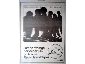 AWB AVERAGE WHITE BAND  - AVERAGE PERFECT ALBUM, STOR TIDNINGSANNONS 1976