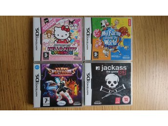 Nintendo DS - Hello Kitty, My Farm, Jackass The Game, Spectrobes,