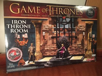 "NYTT! GAME OF THRONES Legoset ""IRON THRONE ROOM"" med 314 delar - MCFARLANE TOYS"