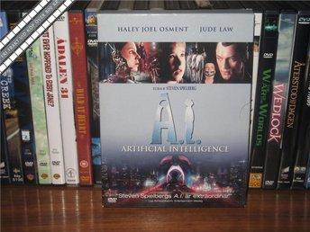 A.I. - ARTIFICIAL INTELLIGENCE (2-Disc) - Jude Law *UTGÅNGEN DVD* - Svensk text - åmål - A.I. - ARTIFICIAL INTELLIGENCE (2-Disc) - Jude Law *UTGÅNGEN DVD* - Svensk text - åmål