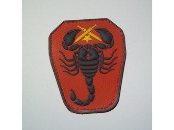PVC Velcro Patch Iraqi scorpion unit röd/svart - Sundborn - PVC Velcro Patch Iraqi scorpion unit röd/svart - Sundborn