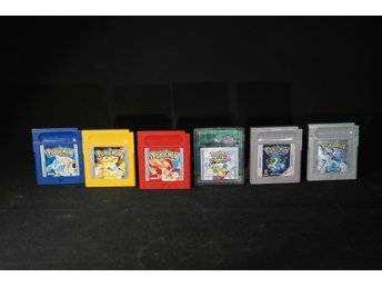 Pokemon till Nintendo Game boy 6 st.