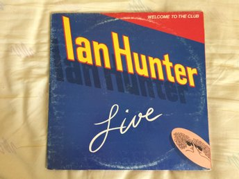 "IAN HUNTER ""WELCOME TO THE CLUB(LIVE)""  CHRYSALIS DBLLP CJT 6 P.1980 USA PRESS"