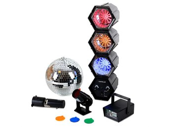 oneConcept Mega LED Party Set Discokula Strob Ljusorgel