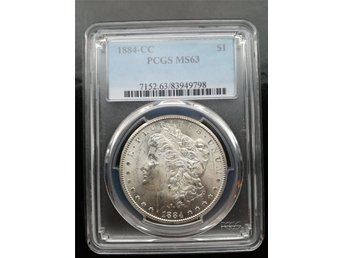 1884 CC Morgan Dollar, PCGS MS63