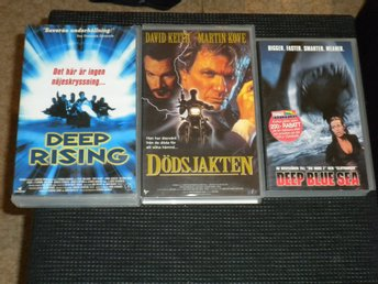 VHS - DEEP RISING / DÖDSJAKTEN / DEEP BLUE SEA