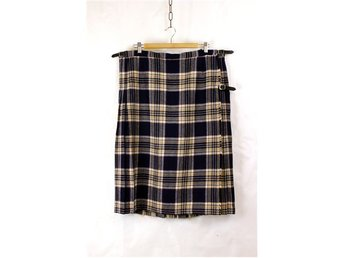 Riktig kilt, Made in U.K., beige, blå-lila, retro
