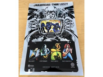 THIN LIZZY JAILBREAK 1976 PHOTO POSTER