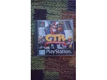Crash Team Racing till ps1, psone, playstation. OBS! DEFEKT OBS!