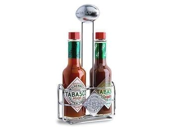 "Ny Tabasco hållare / TABASCO® ""Super Bowl"" Football Caddy för 2 x Stora Flaskor"