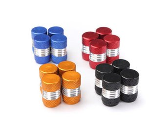 4PCS Aluminum Alloy Car Wheel Tire Valve Stem Caps Dust C...