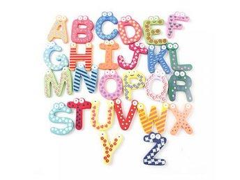 26 Alfabet magneter av trä, Inlärningsverktyg för barn - Sheung Wan - 26 Alfabet magneter av trä, Inlärningsverktyg för barn - Sheung Wan