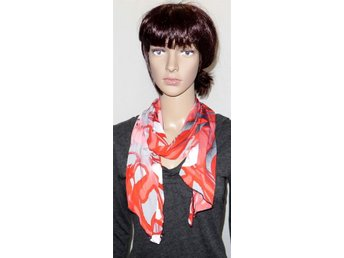 Elegant Scarf sjal röd vit grå svart. Nyskick! - Helsingborg - Elegant Scarf sjal röd vit grå svart. Nyskick! - Helsingborg