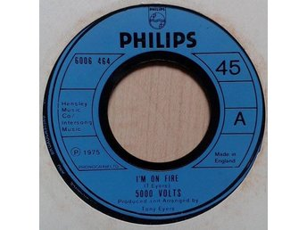 "5000 Volts title* I'm On Fire* Disco 7"" UK"