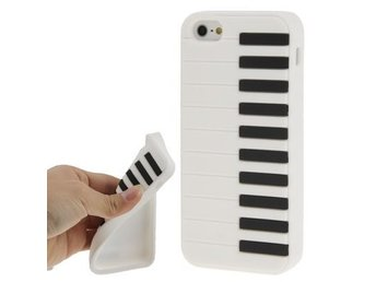 iPhone 5/5S Silikonskal Piano Vit