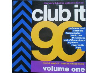 LP; Club it -90; Euro House, Hip-House, House, New Beat, Techno, år 1990