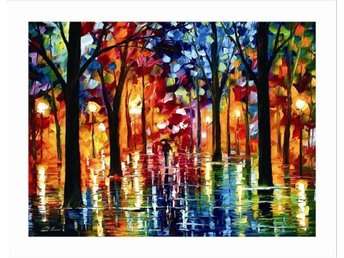 LEONID AFREMOV - RAIN OF FIRE -  OLJA PÅ DUK - OIL ON CANVAS