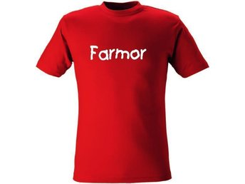 T-SHIRT Farmor nr 14 Röd X-large