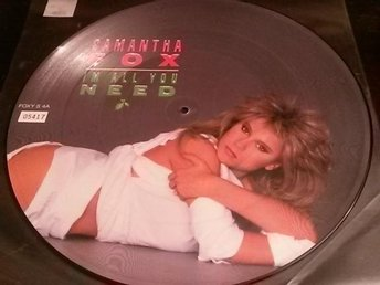 SAMANTHA FOX - Bildskiva Maxisingel - I´m all you need/Want you to want me/Touch