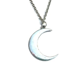 Halsband Måne Crescent Moon Wicca Pagan - 50-55 cm