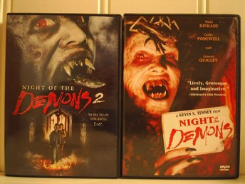 NIGHT OF THE DEMONS 1 & 2. (Cathy Podewell, Linnea Quigley, Bobby Jacoby) - Skärblacka - NIGHT OF THE DEMONS 1 & 2. (Cathy Podewell, Linnea Quigley, Bobby Jacoby) - Skärblacka