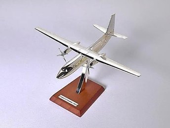 Atlas Editions Fokker F-27 Friendship - 1/200 scale - silver-plated!