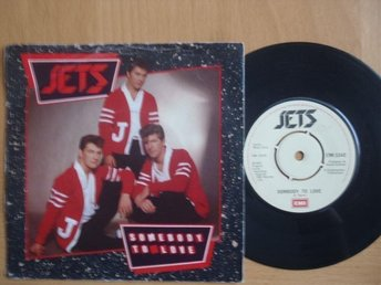 Jets Somebody To Love/ Mandy  UK 45  rock & roll rockabilly