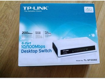 TP-Link 8-Portar Switch 10/100mbps