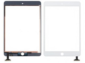 iPad Mini 4 Digitizer Skärm Glas Framglas Touch Display Glas Vit ej LCD (Svart)