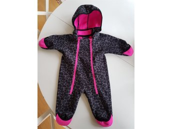 Hot pink leopard vindfleece stl 62
