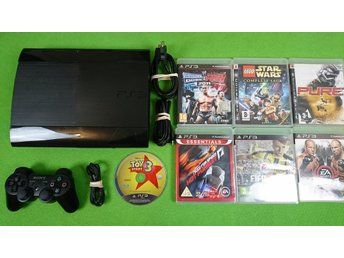 Playstation 3 Konsol 500GB & 7 Spel ps3 basenhet