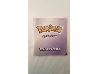 Pokémon Crystal manual trainer's guide bok