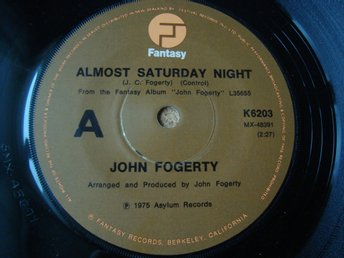 John Fogerty Nya Zeeland Singel Svår Tidig Utgåva 1975 Creedence Almost Saturday