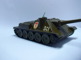TANK SU-100 METAL SOVIET USSR SCALE MODEL 1:43 MILITARY ARMY STEEL