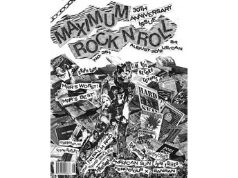 Maximum Rocknroll Magazine *351 August 2012 - MAGAZINE NY - FRI FRAKT