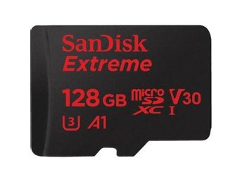 SANDISK Minneskort MicroSDXC Extreme 128GB+Adap Rescue Pro Deluxe 100MB/s A1 C10
