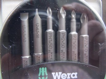 BITSSATS WERA MINI-CHECK LÅNGA BITS 50 MM PH-PZ-SPÅR