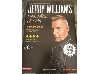 Jerry Williams 2017 turne affisch