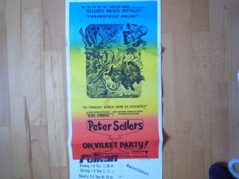 Filmaffisch Oh Vilket Party Peter Sellers Original