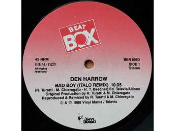 "Den Harrow – Bad boy (Beat Box 12"" promo!)"