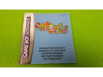 Super Mario Advance SVENSK Manual Gameboy Advance Nintendo GBA