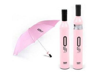 *AsianHome* NY! Japanska 0% Wine Flaska paraply Pink