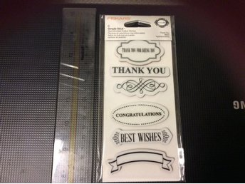 Clear Stamps. Fiskars Thank You mm. Ny - Rimbo - Clear Stamps. Fiskars Thank You mm. Ny - Rimbo