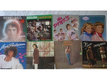 Paket med 8 lp-svensk pop-Lena PH,Harpo,Pinks,Chips,Secret Service,Diddlers