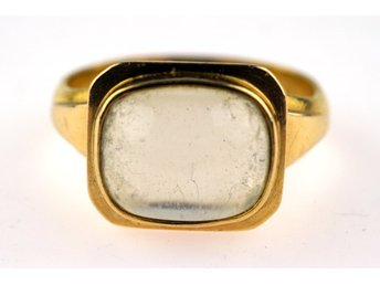RING 23K, Ø21mm, 7,75g guld med månsten, br:4-12,3mm