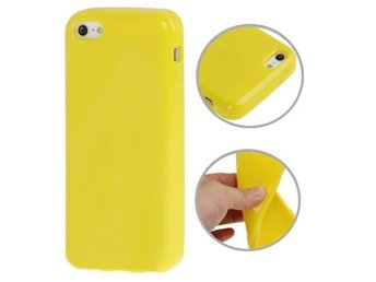 iPhone 5C TPU Skal Solid Gul