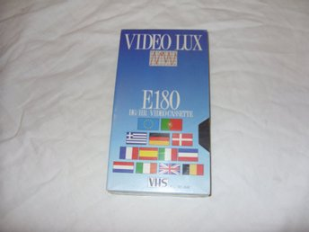 Video Lux E-180 VHS Kassettband 180 minuter PAL & Secam Ny! New!