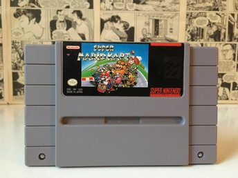 Super Mario Kart + nytt batteri! (NTSC-USA Super Nintendo)