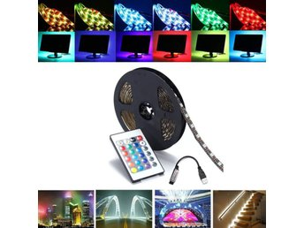 0.5/1/2/3/4/5M SMD5050 RGB Waterproof LED Strip Light TV ...