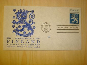 50th Anniversary of Finland Independence 1917-1967 USA förstadagsbrev